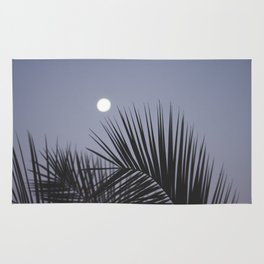 Moonrise over Los Angeles Rug