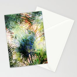 Modern palm leaves tropical abstract design Stationery Cards