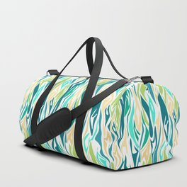 22 abstract turquoise cream Duffle Bag