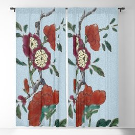 Flowering tree branch Blackout Curtain