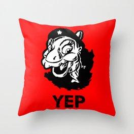 Ducky Guevara (Yep Yep Yep - Land Before Time) Throw Pillow