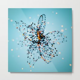 Starfield - Blue Metal Print