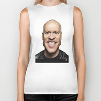 celebrity Biker Tanks featuring Celebrity Sunday ~ Michael Keaton by rob art | illustration