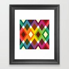 Squares & Colours Framed Art Print