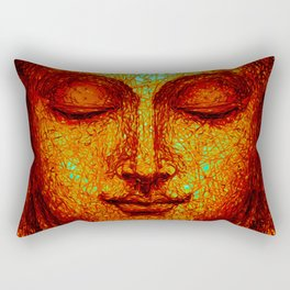 Orange Buddha Rectangular Pillow