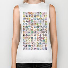 Pocket Monsters Biker Tank