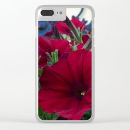 Flowers and Iron Clear iPhone Case