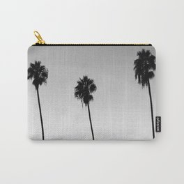 Black and White San Diego Palms - California Carry-All Pouch