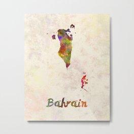 Bahrain  in watercolor Metal Print