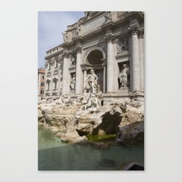 Trevi Fountain without Water Canvas Print