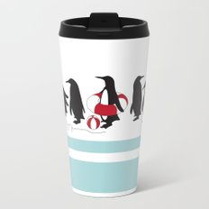 Penguins Waiting in Line Travel Mug