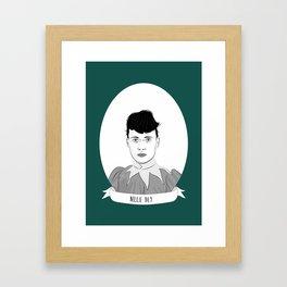 Nellie Bly Illustrated Portrait Framed Art Print