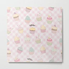 Cupcakes pattern Metal Print