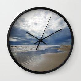Stormy Beach Days Wall Clock
