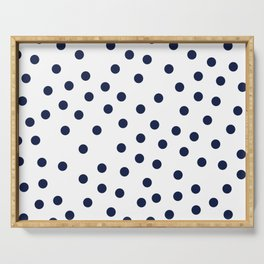 Simply Dots in Nautical Navy Serving Tray
