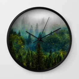 forest redone Wall Clock
