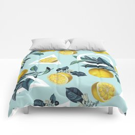 Geometric and Lemon pattern III Comforters