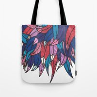 indonesia Tote Bags featuring Birds from Indonesia by MARVIZE