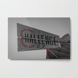 Challenge Windmill Company No 27 Batavia Illinois Metal Print