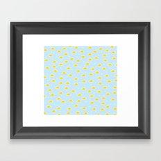 baby cloud pattern Framed Art Print