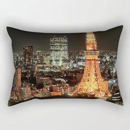 Tokyo Tower at night Rectangular Pillow