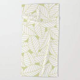 Leaves in Fern Beach Towel