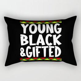 Young Black & Gifted Rectangular Pillow