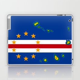 Cape Verde Flag with Map of the Cape Verde Islands Laptop & iPad Skin