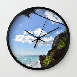 Steps to paradise Wall Clock
