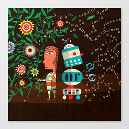 """""""Robots Can't Dance"""" by James Yang for Nautilus Canvas Print"""