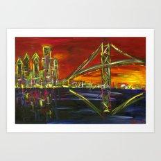 Ben Franklin Sunset Art Print