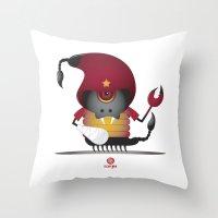 scorpio Throw Pillows featuring SCORPIO by Angelo Cerantola