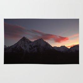 Mountains of Switzerland Rug