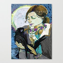 'Communication with the Raven' Canvas Print