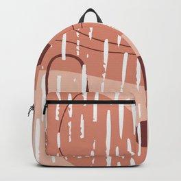 Pastel Brush Pattern Backpack