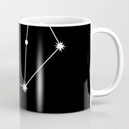 LIBRA (WHITE-BLACK STAR SIGN) Coffee Mug