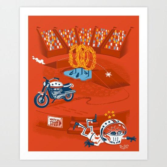 Evel Kn'awful Art Print