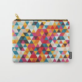 Vintage Summer Color Palette - Hipster Geometric Triangle Pattern Carry-All Pouch