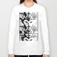 evil queen Long Sleeve T-shirts featuring Evil Queen by Keith Gutierrez