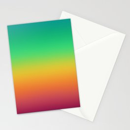 Bright Rainbow Ombre Stationery Cards