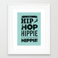 hip hop Framed Art Prints featuring Hip Hop by Leeroy