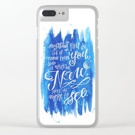 You Keep Moving On [Sunday In The Park With George] Clear iPhone Case