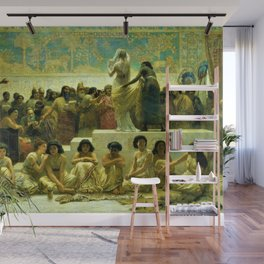Classical Masterpiece The Slave Market Of Babylon by Edwin Long Wall Mural