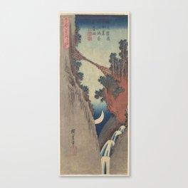 Bow Moon, Hiroshige Canvas Print