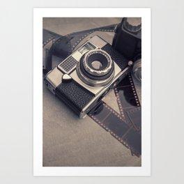 Vintage Camera and Film III Art Print