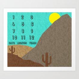 Desert Milestones - Baby Birthday Art Print