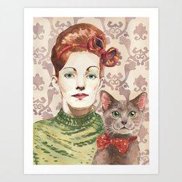 Cat Lady: Monica Art Print