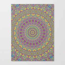 Acid Color Mandala Canvas Print