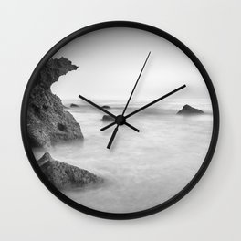 Roche Reefs At Sunset. Bw Wall Clock