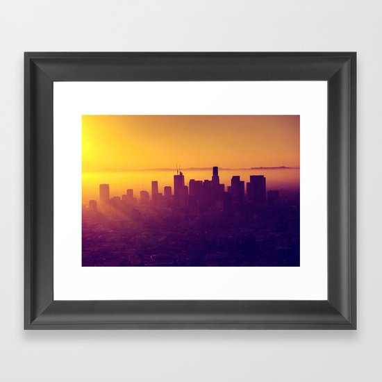 Los Angeles at Sunset Framed Art Print